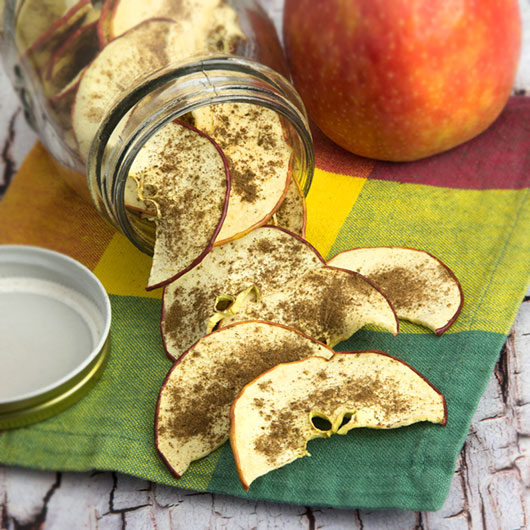 Vanilla Spice Dehydrated Apple Chips @OmNomAlly