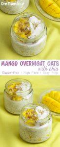 Mango Overnight Oats with Chia @OmNomAlly